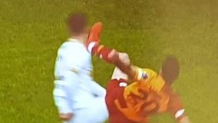 Galatasaray-Kayserispor maçına damga vuran pozisyon