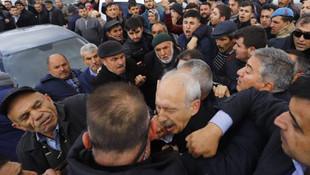 CHP lideri Kemal Kılıçdaroğlu'na saldırı !