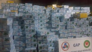 25 ton kaçak nargile tütünü ele geçirildi