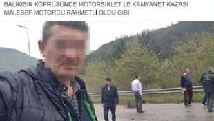 İnsanlık ölmüş ! Kazada ölen kişiyle selfie yaptı