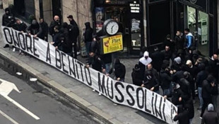Lazio ve İnterli taraftarların Mussolini'ye övgü pankartı için soruşturma