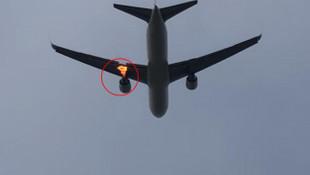Yolcu uçağında korkutan görüntü