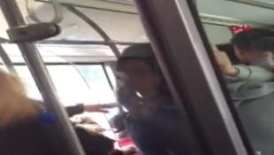 Otobüs şoföründen yolcua ''seni öldürürüm'' tehdidi
