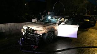 Ankara'da lüks araç kundaklandı