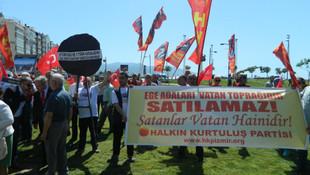 İzmir'de Yunanistan'a protesto