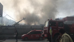 Sarıyer'de depo yangını
