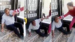 Çocuğu taciz eden sapığı dövüp, polise teslim ettiler