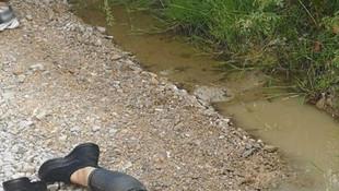 Genç kadın su birikintisi yanında böyle bulundu