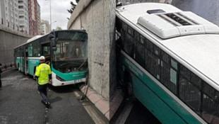 Halk otobüsü duvara çarptı: 8 yaralı