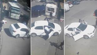 İstanbul'da film gibi operasyon: Polis aracın içine böyle atladı