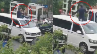 İstanbul'da şoke eden görüntüler ! Polis UBER'ciyi böyle götürdü