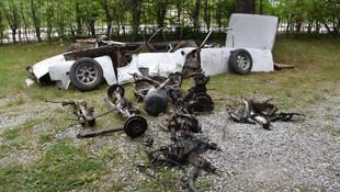 Çalınan otomobilini parçalara ayrılmış olarak buldu