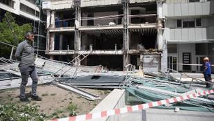 Ankara'da inşaat iskelesi çöktü: 2 yaralı