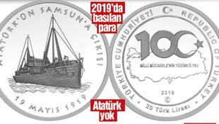 Darphane'den Atatürk'süz 19 Mayıs parası