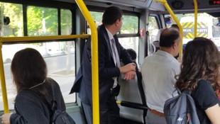 Kadıköy Belediye Başkanı minibüste görüntülendi
