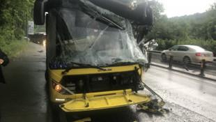 Sarıyer'de iki otobüs çarpıştı: Yaralılar var