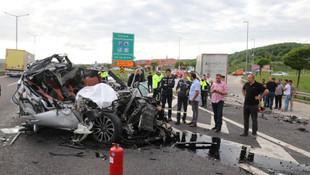 Bolu'da 1 kişinin öldüğü feci kaza kamerada