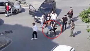 Kemerle saldıran sürücüyü böyle nakavt etti