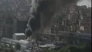 Eyüpsultan'da metro inşaatında yangın