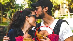 Ünlü çiftin mutlu aile pozu olay oldu