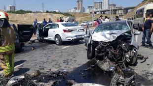 Başakşehir'de zincirleme kaza: Yaralılar var