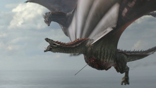 Game of Thrones'ta ejderha 'Rhaegal'in öldüğü sahne