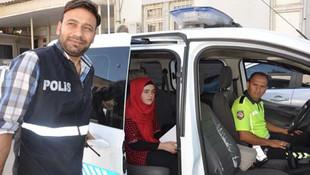 Öğrencilerin sınav heyecanı ! Sınava polis yetiştirdi...