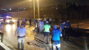 Küçükçekmece'de gece yarısı feci kaza: 1 ölü, 5 yaralı
