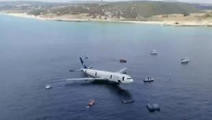 Dev yolcu uçağı Saros Körfezi'ne batırıldı