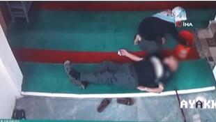 Camide ölüm kamerada
