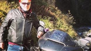 Ünlü iş adamı motosiklet kazası geçirdi