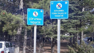 Ankara'da baraj havzalarında tabelalı uyarılar dikkat çekti