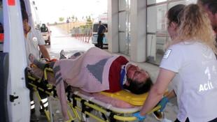 9 aylık hamile eşini hastaneye götürürken dehşeti yaşadılar