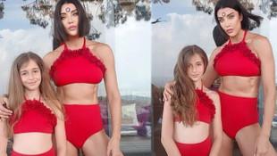 Deniz Akkaya'dan ''anneli kızlı'' yeni bikinili paylaşım