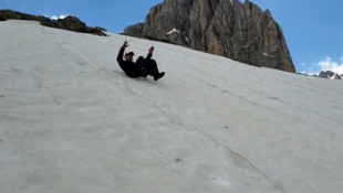 Bu görüntüler Türkiye'den! Haziran'da kışı yaşadılar...