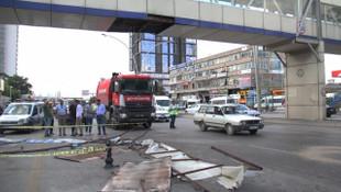 Ankara'da vinç dehşeti ! Bir kadın ölümden döndü