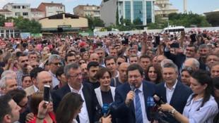 CHP'li Canan Kaftancıoğlu'na Adliye önünde büyük destek