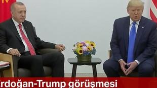 Erdoğan ve Trump görüşmesi sona erdi! Trump'tan dikkat çeken açıklama