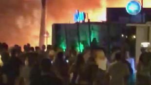 Marmaris'te eğlence mekanında akılalmaz olay ! Ateşe verdiler