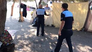 Bursa'da sahile inen Suriyeliler tatilcileri bıktırdı