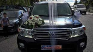 Ankara'da Gökçek'ten geri alınan cipler gelin arabası oldu