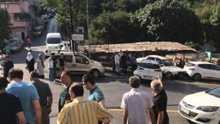 Aday sürücü dehşet saçtı, mahalleliden dayak yedi