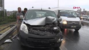 İstanbul'da peş peşe kaza ! Trafik felç oldu