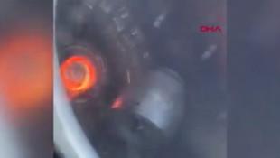 Yolcu uçağında büyük panik! Motor alev topuna döndü