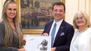 Tuğba Özay'dan İmamoğlu'na ziyaret: Ayağına taş değmesin !