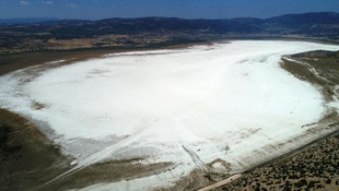 Türkiye'nin flamingo cenneti Akgöl tamamen kurudu
