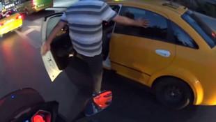 Taksiciye tekme tokat dayak !