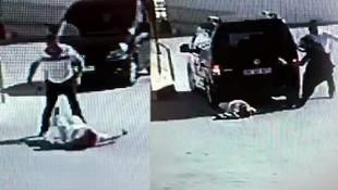 Sokak ortasında dehşete düşüren kavga ! Aracıyla üzerinden geçti