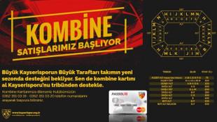 Kayserispor'da kombine bilet fiyatları açıklandı