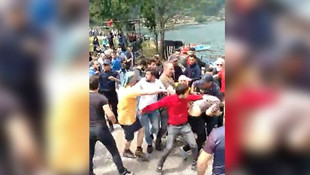 Trabzon'da ''Kürdistan'' bayrağı açan kişiye linç girişimi
